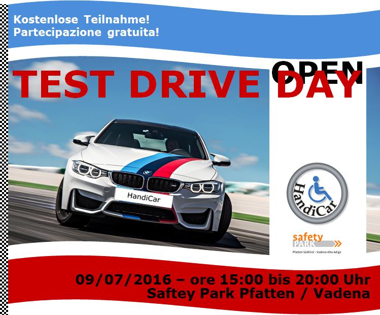 TEST DRIVE DAY   sabato, il 9 luglio 2016